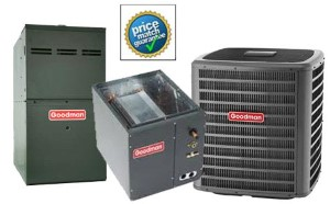 5 Ton Goodman DSXC180601A CAPF4961C6D GMVC80805CNB SEER 16 Air Conditioner GAS FURNACE Split System