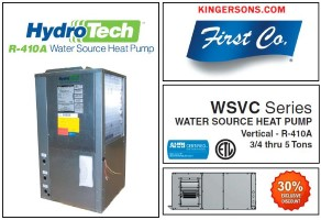 2 Ton 13 EER Water Source Heat Pump First Co Hydro-Tech WSVC024C2RH Similar to Mcquay Geothermal