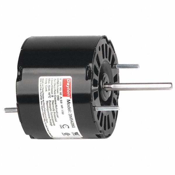 DAYTON 1/50 HP, HVAC Motor, Shaded Pole, 1550 Nameplate RPM, 115 Voltage, Frame 3.3