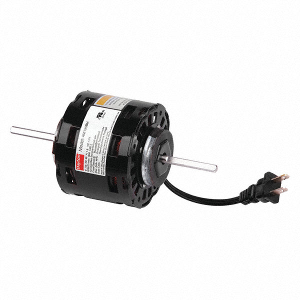 DAYTON 1/25 HP, HVAC Motor, Shaded Pole, 1550 Nameplate RPM, 115 Voltage, Frame 3.3