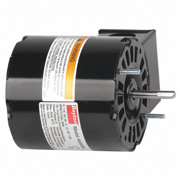 DAYTON 1/25 HP, HVAC Motor, Shaded Pole, 3000 Nameplate RPM, 115 Voltage, Frame 3.3