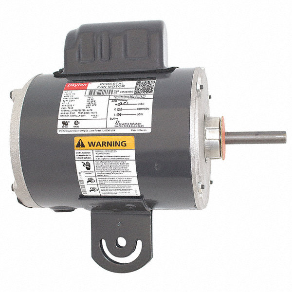 1/3 HP Pedestal Fan Motor, Permanent Split Capacitor, 1075 Nameplate RPM,115 Voltage, Frame 48YZ