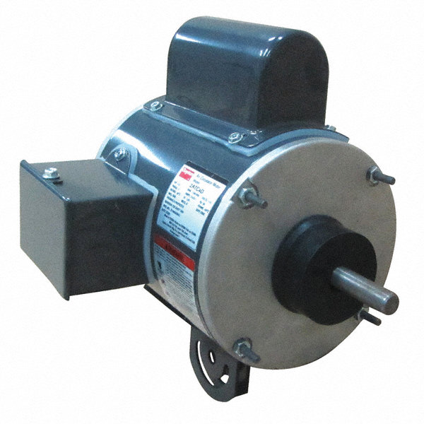 1/3 HP Pedestal Fan Motor, Permanent Split Capacitor, 1100 Nameplate RPM,115 Voltage, Frame 48YZ