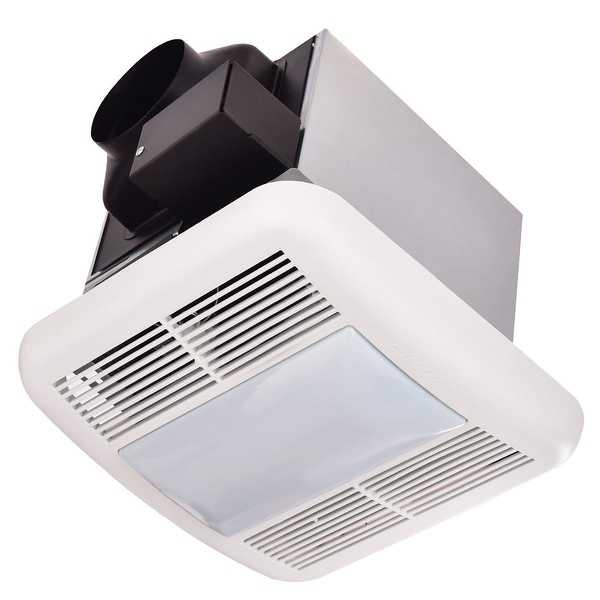 Costway Bathroom 80 CFM Ceiling Wall Mounted Exhaust Fan Light Air Ventilation 0.8 Sones
