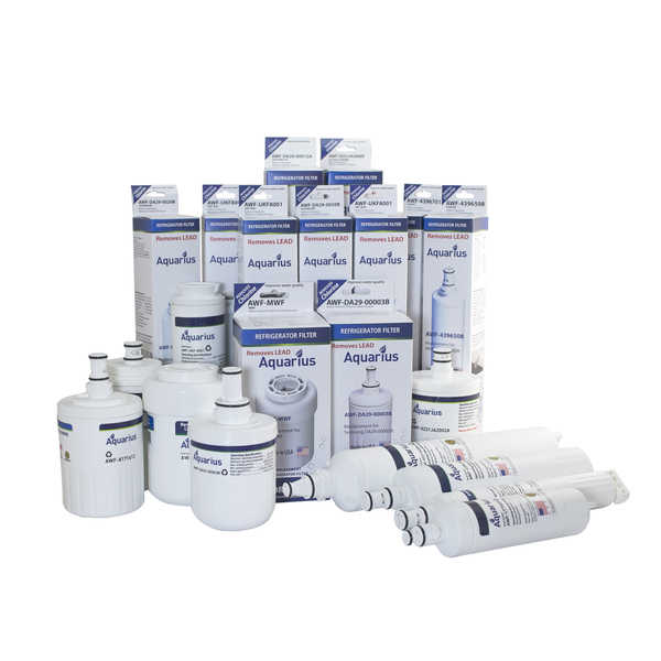 Maytag LG Whirlpool Samsung GE Bosch Frigidaire Aquarius Replacement Water Filters w/ Lead & Contaminant Removal Capabilities