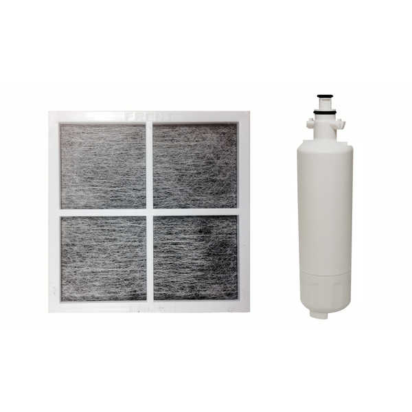 1 LG LT120F Air Purifying Fridge Filter and 1 LG LT700P Refrigerator Water Purifier Filter, Fits ADQ36006101 and ADQ36006101-S - air filter