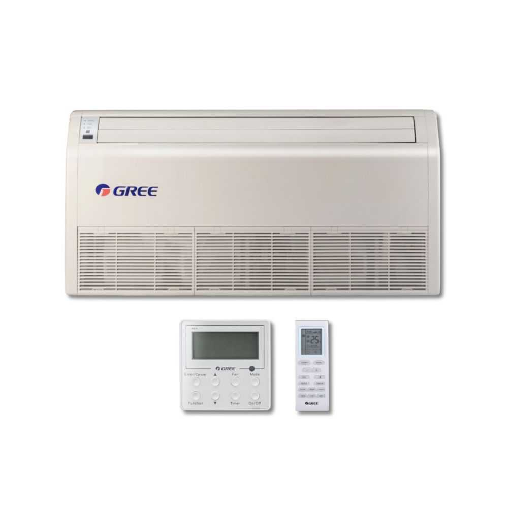Gree MULTI42CFLR204 - 42,000 BTU Multi21+ Dual-Zone Floor/Ceiling Mini Split Air Conditioner Heat Pump 208-230V (12-12)