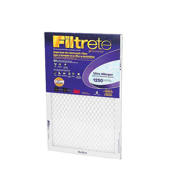 3M 2001DC-6 Ultra Allergen Reduction Filter 16 in x 25 in x 1 in 6-cs