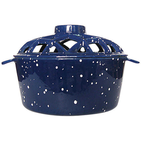 UniFlame Porcelain Coated Lattice Top Steamer- Blue W/ White Speckles