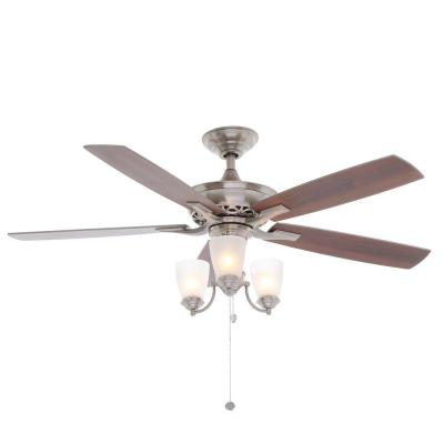 Havenville 52 in. Brushed Nickel Ceiling Fan