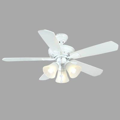 Westmount 44 in. 3-Light Matte White Ceiling Fan