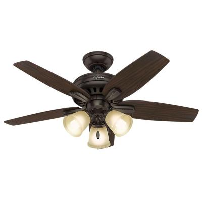 Newsome 42 in. Indoor Premier Bronze Ceiling Fan with 3-Light