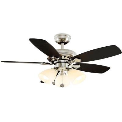 Luxenberg 36 in. Indoor Brushed Nickel Ceiling Fan