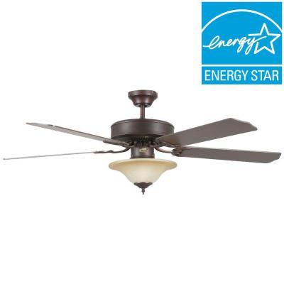 Heritage Square 52 in. Oil-Rubbed Bronze Ceiling Fan