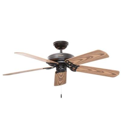 Bridgeport 52 in. Black Damp Rated Ceiling Fan