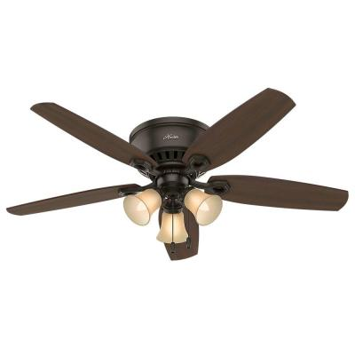 Builder Low Profile 52 in. Indoor New Bronze Ceiling Fan