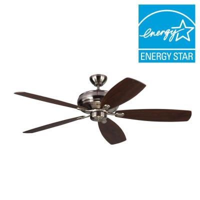 Embassy Max 60 in. Brushed Steel Silver Ceiling Fan
