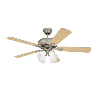 Swirl 52 in. Brushed Pewter Indoor Ceiling Fan