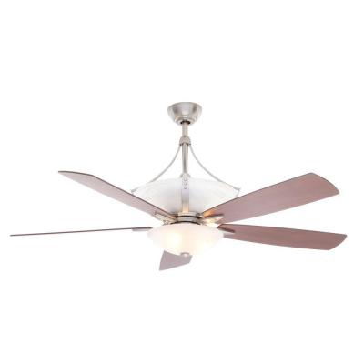 Brookedale II 60 in. Brushed Nickel Ceiling Fan