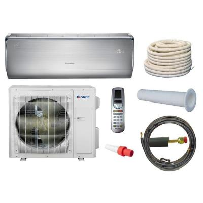 Crown 9,000 BTU 3/4 Ton Ductless Mini Split Air Conditioner and Heat Pump Kit - 208-230V/60Hz