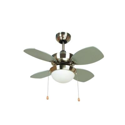 Hurricane 28 in. Bright Brushed Nickel Ceiling Fan