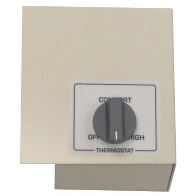 Single Pole Left Mount Thermostat Kit, White