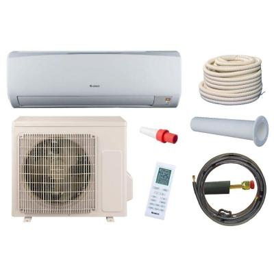 High Efficiency 12,000 BTU 1 Ton Ductless Mini Split Air Conditioner and Heat Pump Kit - 115V/60Hz