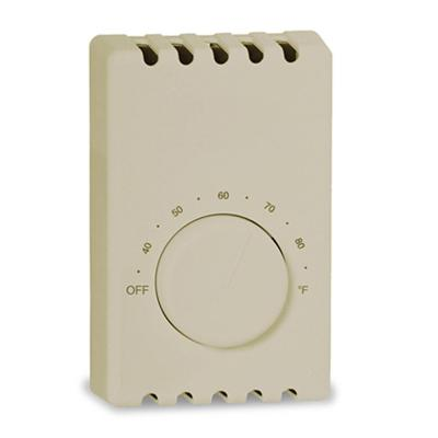 Double-Pole 22 Amp 120/240-Volt Wall-Mount Mechanical Non-Programmable Thermostat in Taupe