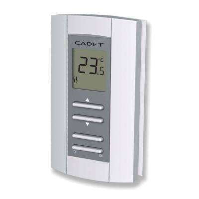 Double Pole 16-Amp 208/240-Volt Digital Electronic Non-Programmable Wall Thermostat in White