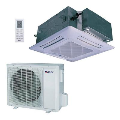 30,000 BTU (2.5 Ton) Ductless Ceiling Cassette Mini Split Air Conditioner with Heat, Inverter, Remote - 230V/60Hz